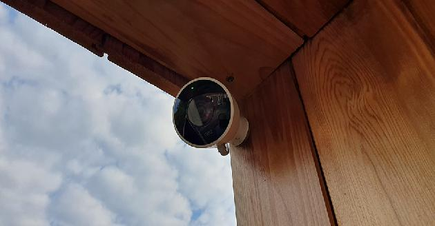 Nest camera install on summer house